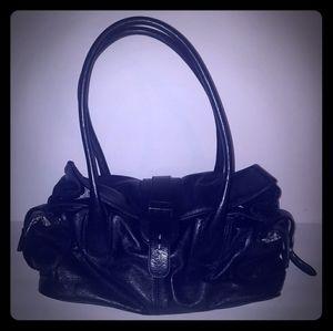 🆕NWOT Barr+Barr NY Black Leather Satchel